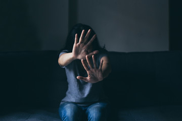 depressed emotion panic attacks alone young woman sad fear stressful.crying begging help.stop abusing domestic violence,person with health anxiety,people bad frustrated exhausted feeling down