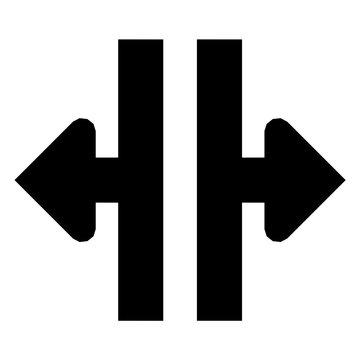Split Glyph Icon Vector