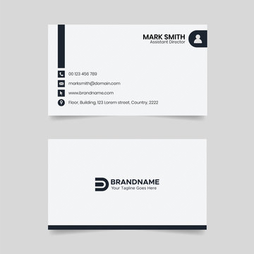 Black and White Business Card Design, Law Firm Legal Style Visiting Card Template