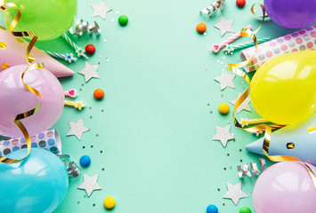 Happy birthday and party background Wall mural