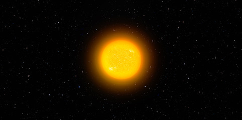 Wall Mural - The Sun in Space -