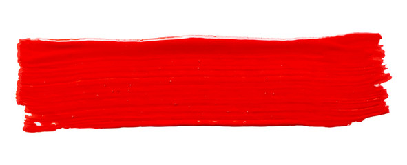 Vector red paint texture isolated on white - acrylic banner for Your design