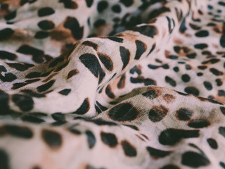 Poster Leopard Close up of a leopard animal print fabric