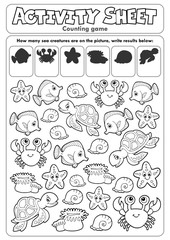 Activity sheet counting game 1