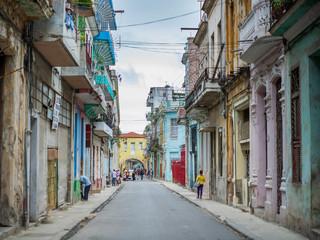 Fotobehang Havana Street in havana, cuba