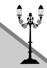 Ornamental Historical Street Lamp, Digital Art