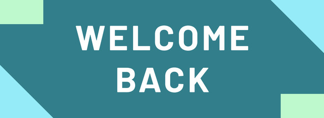 welcome back web Sticker Button