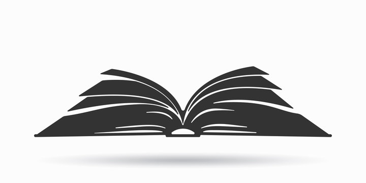 Open book icon. Book icon isolated on white background. Vector