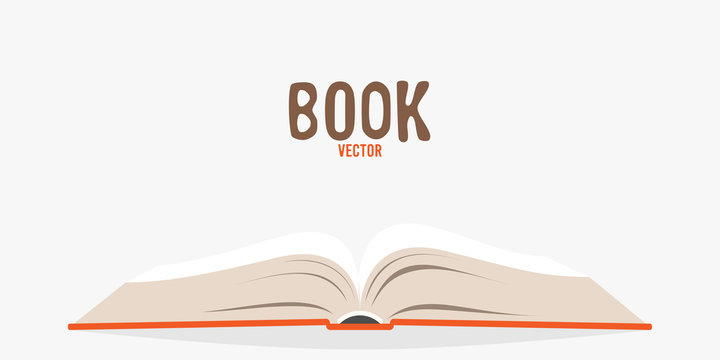 Covered opened book isolated. Vector illustration