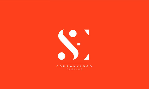 SE ES S E Letter Logo Alphabet Design Template Vector
