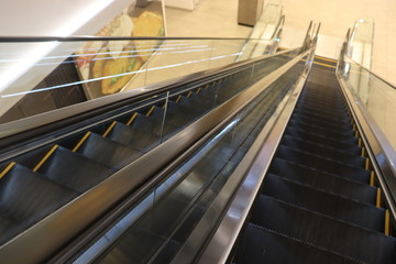 Wall Murals Stairs malls elevator view with railing