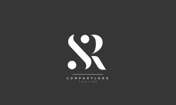SR RS S R Letter Logo Alphabet Design Template Vector