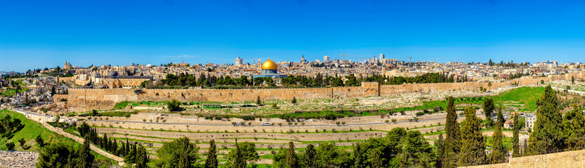 Panorama of Jerusalem and Walls