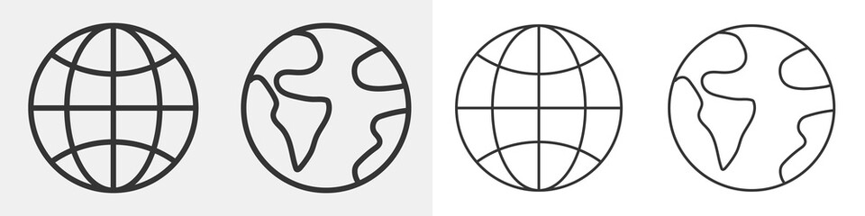 World vector icons isolated.