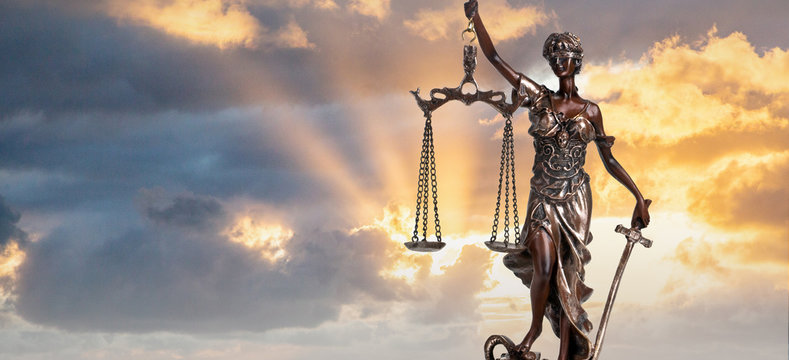 Silhouette Lady of Justice