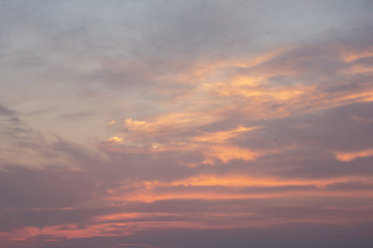 summer holiday pink orange sunset sky overlay with clouds