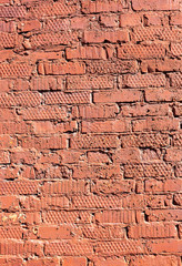 Red brick wall as background texture