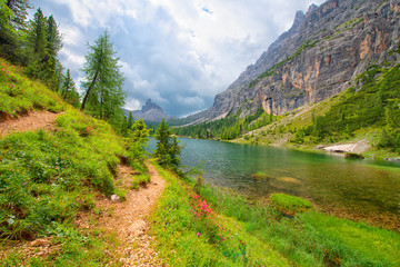 Lake Federa, Dolomite Alps, Italy