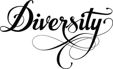 Diversity - custom calligraphy text Fotoväggar
