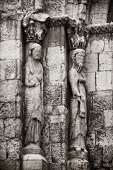 Fototapete - Hallway with pillar in Segovia