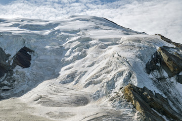 Wall Mural - Trift glacier as seen from Hohsaas above the Saas-Grund village