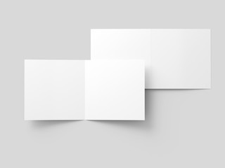 Brochure in square format folded to two - mockup Wall mural