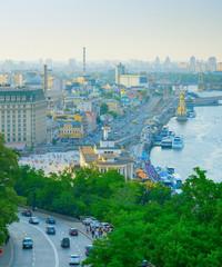 Fototapete - Aerial view of Kyiv. Ukraine