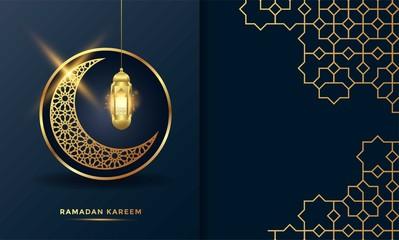 ramadan kareem islamic greeting card background vector illustration