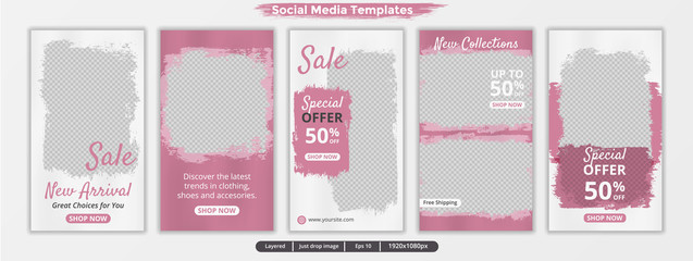 Abstract template stories for instagram. Social media template for ads.