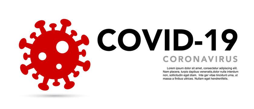 Sign caution coronavirus. Stop coronavirus banner.