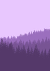 Stores à enrouleur Lilas Flat landscape mountain for background, wallpaper, texture, ui,