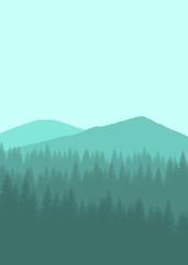 Printed kitchen splashbacks Light blue Flat landscape mountain for background, wallpaper, texture, ui,