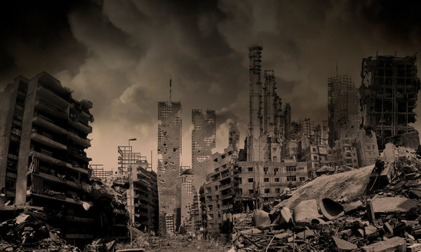 Destroyed City Skyline Photos Royalty Free Images Graphics Vectors Videos Adobe Stock