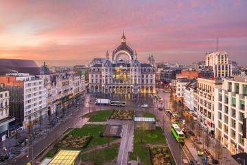 Fototapete - Antwerp, Belgium Cityscape