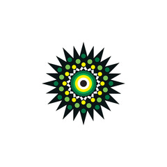 Aboriginal art dots painting icon logo design