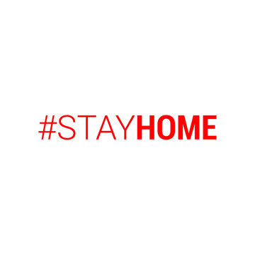 stayhome - stay home hashtag. Let s stay home campaign icon for Prevention of Coronavirus or Covid-19.