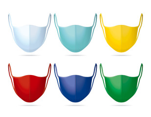 Set of Face Masks in different Colors