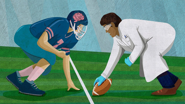 Football player versus scientist in study of sport concussions