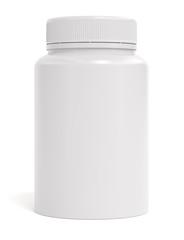 Pills bottle isolated on white background 3d rendering