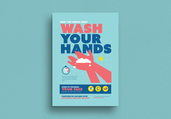 Hand Washing Campaign Poster Layout