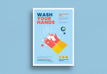 Wash Your Hands Campaign Poster Layout