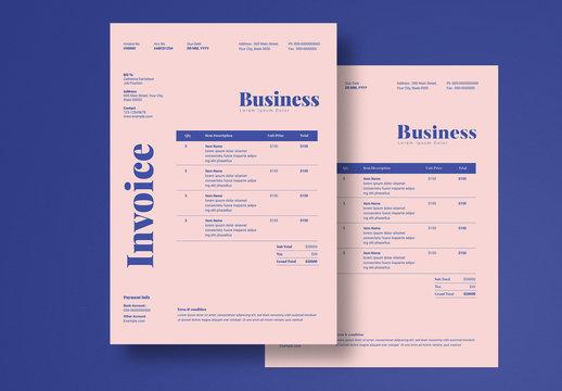 Minimal Invoice Layout