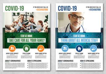 Coronavirus Flyer Layout