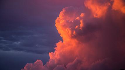 Autocollant pour porte Grenat douceur des nuages