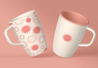 2 Coffee Mugs Mockup