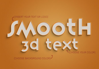 3D Text Effect with Stroke