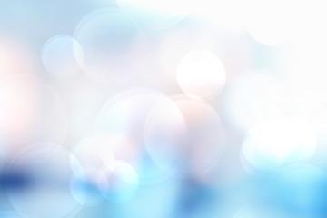 Wall Mural - Blue bokeh light background. Blur background for web design