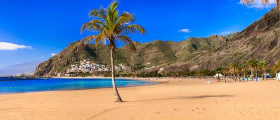 Wall Mural - Best beaches of Canary islands - beautiful  Las Teresitas in Tenerife