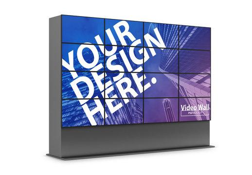 TV Panel Video Wall Mockup