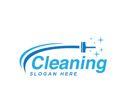 Cleaning logo vector design template